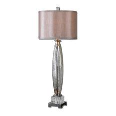Uttermost Loredo Mercury Glass Table Lamp, Brushed Nickel