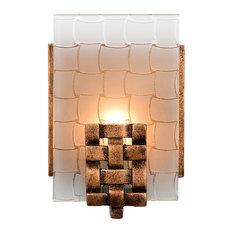 50 most popular copper bathroom vanity lights for 2018 houzz varaluz dreamweaver 1 light vanity blackened copper bathroom vanity lighting aloadofball Image collections