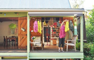 Atelier d'artiste : Bec Andersen dans son studio d'art textile