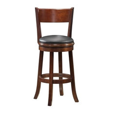 Boraam Palmetto 24-inch Swivel Bar Stool In Walnut