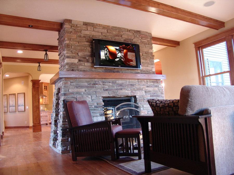 Craftsman Family Room Television Installation