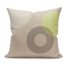 """Bokeh 20"""" Pillow, Fluorescent Yellow"""