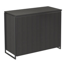 Federico 2-Door Sideboard, Black Stained Oak, Black Accent