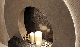 """The """"O"""" - Natural Stone fireplace"""