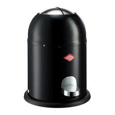 Wesco Single Master Waste Can, Black