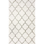 nuLOOM - Handmade Trellis Rug, Light Gray, 9'x12' - Slip comfort and classic style underfoot with the Handmade Trellis Rug. This versatile piece is made from a durable wool-and-viscose blend with a gray trellis pattern that pairs seamlessly with traditional and transitional designs.