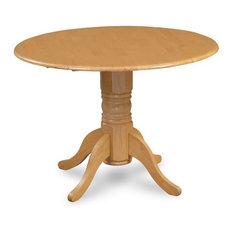 "42"" Burlington Round Dining Table, Two 9"" Drop Leaves, Oak"