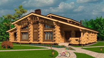Элитный деревянный дом в стиле Славянское фэнтези