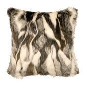 "Forest Fox Fur Pillow, 18""x18"""