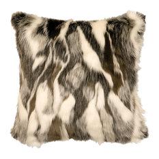 """Forest Fox Fur Pillow, 18""""x18"""""""