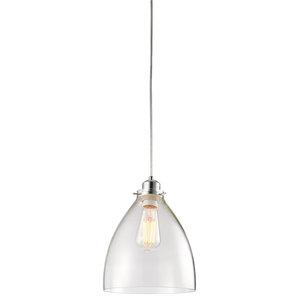 Elstow Glass and Chrome Non Electric Pendant