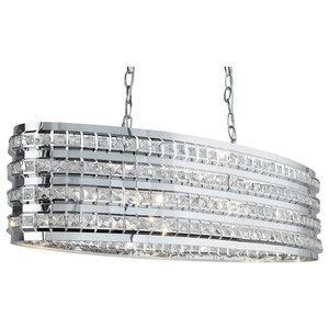 Charlize 2-Light Oval Ceiling Light, Polished Chrome