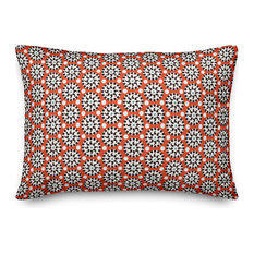 Boho Polka Dots in Red Throw Pillow