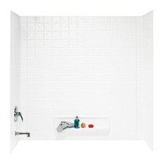 Swan 30x60x59.625 Veritek Bathtub Wall Kit, White