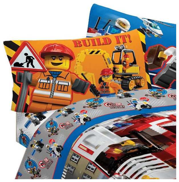 Lego Twin Bed Sheet Set City Build Bedding - Traditional - Kids ...