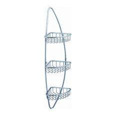 Fresca Magnifico 3 Tier Corner Wire Basket, Chrome