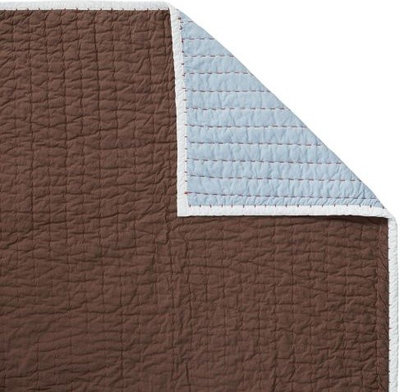 Traditional Quilts And Quilt Sets Chocolate/Chambray Cabin Quilt