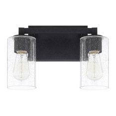 Capital Lighting Fixture Company - Ravenwood 2-Light Bathroom Vanity Light, Black Iron -