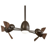 Ceiling Fan, Oil Rubbed Bronze With Etched Opal Glass
