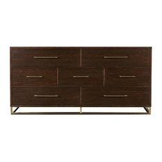 Universal Modern 644040 Bancroft Dresser, Mahogany