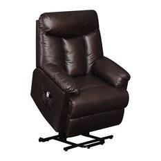 Handy Living - ProLounger Renu Leather Wall Hugger Recliner, Gunslinger Coffee, Renu Brown - Recliner Chairs