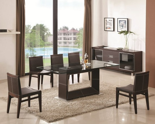 wooden and clear glass top leather dining room furniture dinette dining tables - Leather Dining Room Chairs