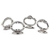 Godinger  Finial Napkin Ring Card Holder - Set Of 4