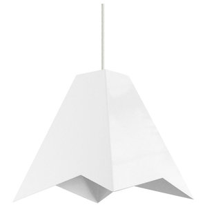 Cheese Department Hyozan White Pendant Lamp, White Cable