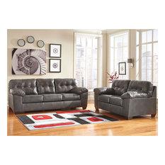 Signature Design by Ashley Alliston Living Room Set, Gray DuraBlend