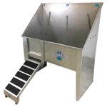 "Groomer's Best - Walk-Through Dog Wash/ Utility Sink, 58"", Right Drain - Features:"