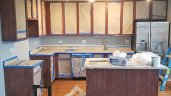 kitchen makeover  and cabinets refinish