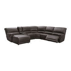 Channing Manual Reclining Sectional Brown