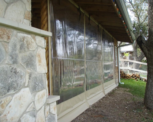 Clear Vinyl Patio Enclosure Weather Curtains   Residential Project