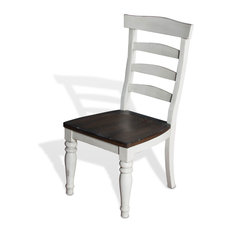 Bourbon Country Ladder Back Dining Chair, Wooden Seat