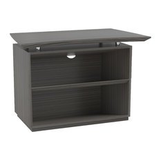 Mayline Sterling Reception 2 Shelf Bookcase In Textured Driftwood STERCB2TDW