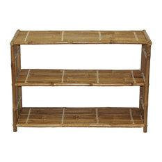 Bamboo Three Shelf Bookcase
