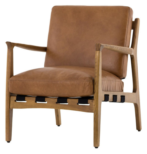 Bishop Silas Occasional Chair, Patina Copper