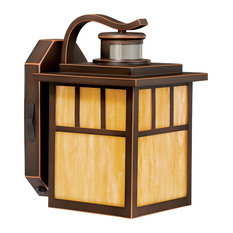 Mission Bronze Motion Sensor Dusk to Dawn Outdoor Mission Wall Light