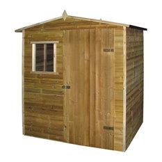vidaXL Garden Shed Log Cabin, Impregnated Pinewood, 1.5x2 m