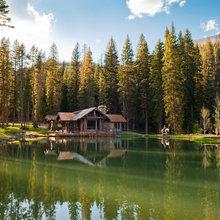Rustic cabin.