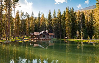 Houzz Tour: Rustic Cabin With Dive-In Pond