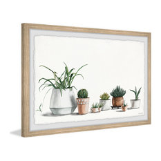 """""""Container Gardens"""" Framed Painting Print, 24""""x16"""""""