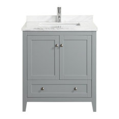 "Eviva Lime 30"" Bathroom Vanity Grey with Top"