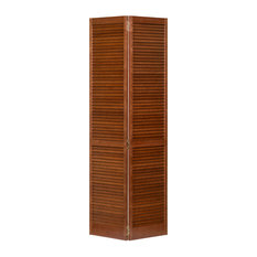Stained (Espresso) Closet Door, Bi-fold, Kimberly Bay Louver-Louver, 80x24