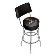Guinness Swivel Bar Stool With Back Signature