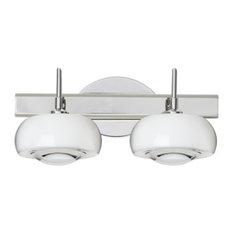 Besa Lighting - Besa Lighting 2SW-2634CL Focus 2 Light Bathroom Vanity - Bathroom Vanity Lighting