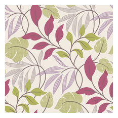 Eden Purple Modern Leaf Trail Wallpaper Bolt
