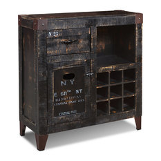 Sunset Trading Graphic 9 Bottle Wine Cabinet HH-8725-150