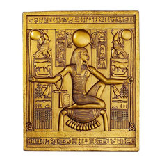 Ancient Egyptian Temple Wall Decor King Tut Sculptural Plaque