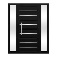 Cbw Windows And Doors Aquarius Entry Door 44 X92 Black